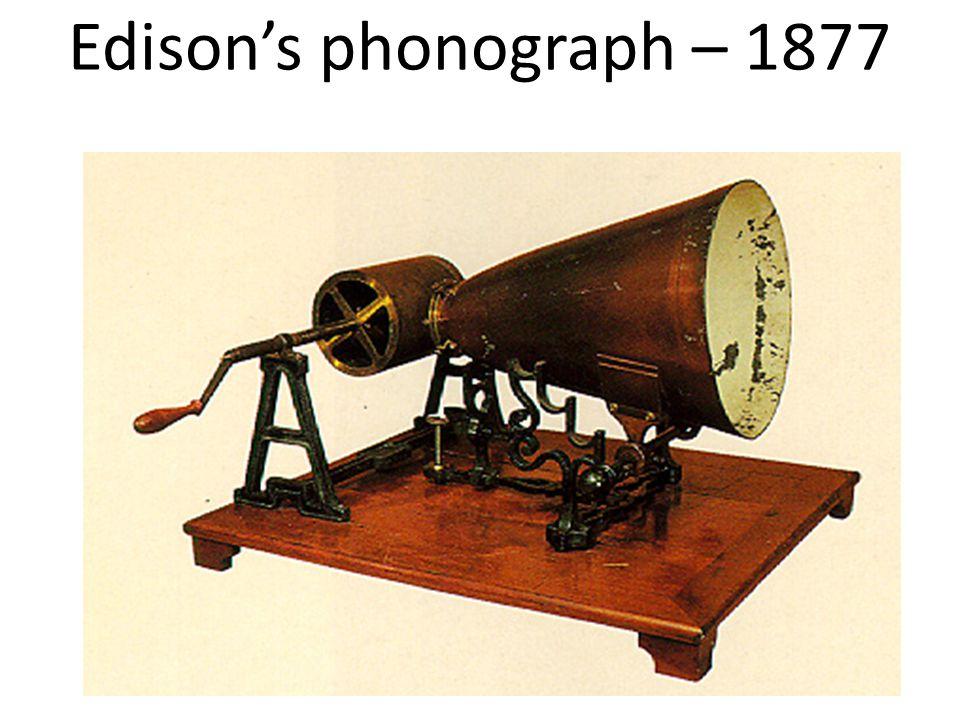 Edison's phonograph – 1877