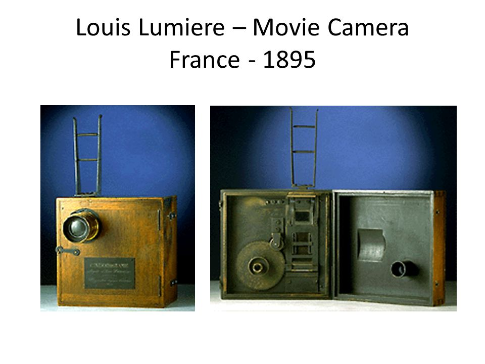 Louis Lumiere – Movie Camera France - 1895