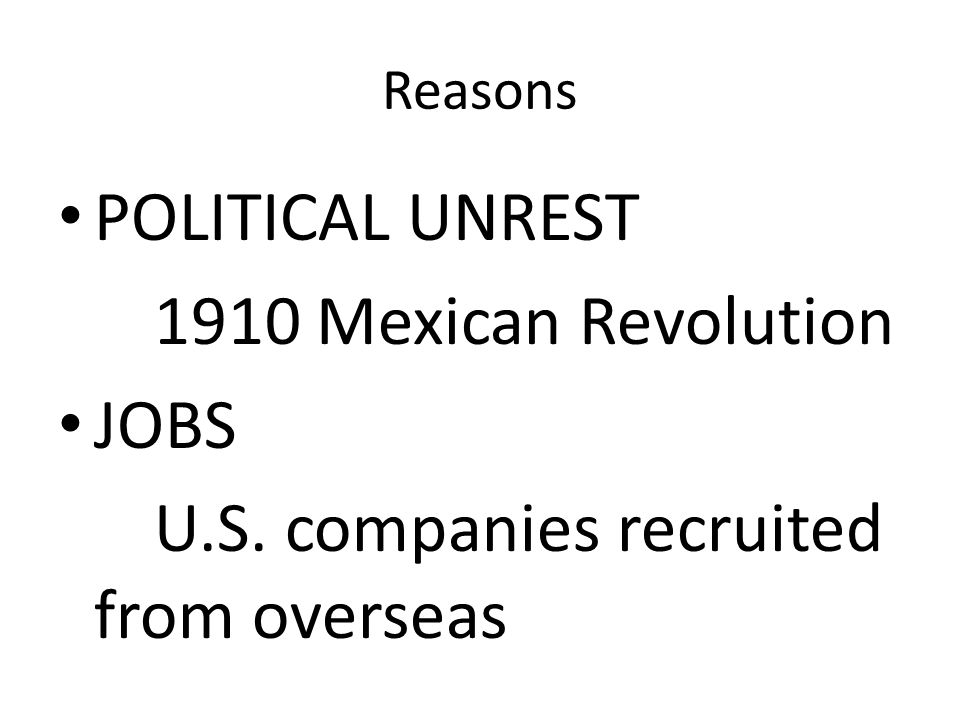 U.S. companies recruited from overseas