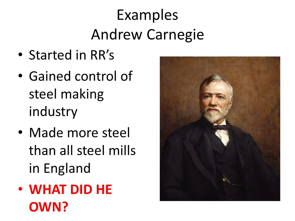 Examples Andrew Carnegie
