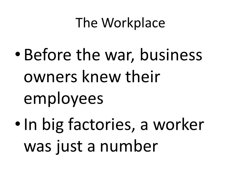 Before the war, business owners knew their employees