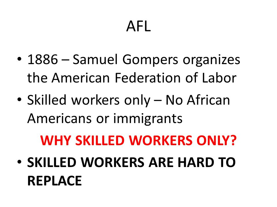 WHY SKILLED WORKERS ONLY