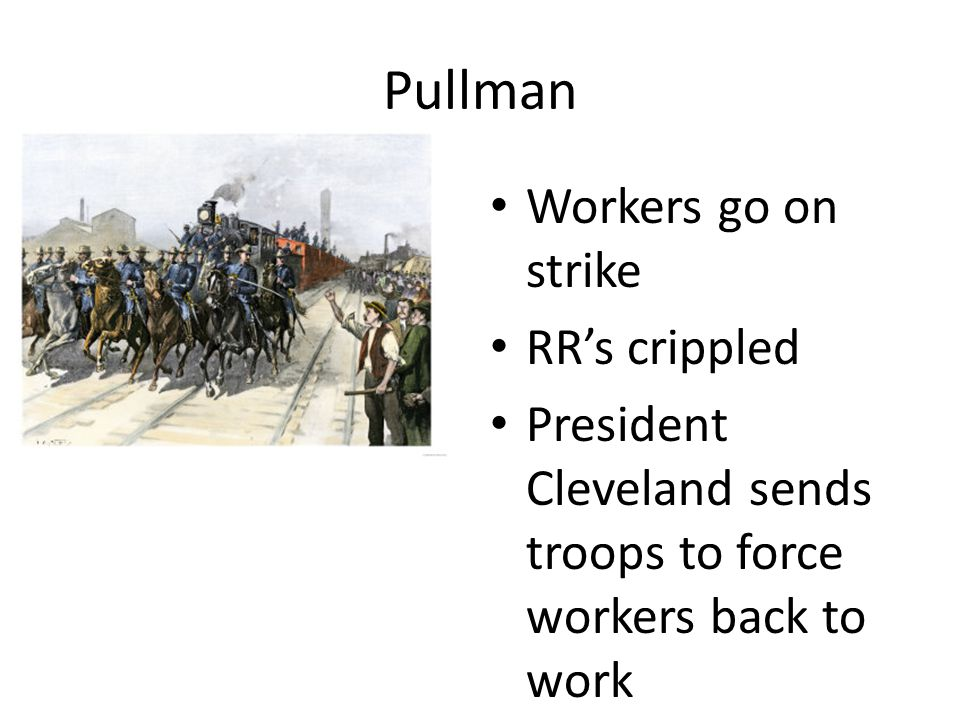 Pullman Workers go on strike RR's crippled