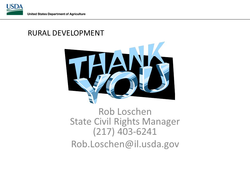 Rob Loschen State Civil Rights Manager (217) 403-6241