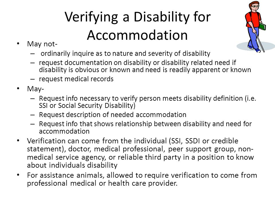 Verifying a Disability for Accommodation