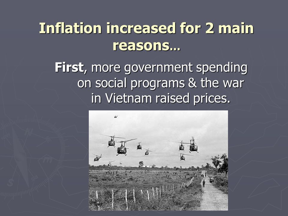 Inflation increased for 2 main reasons…