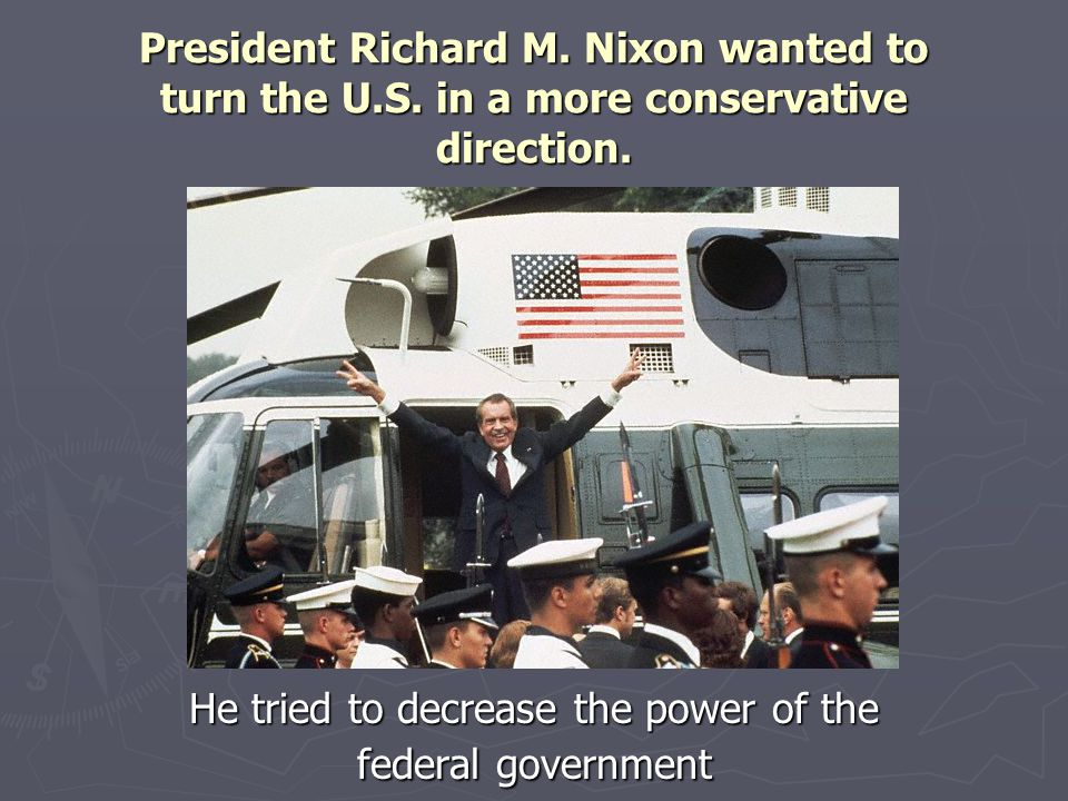 He tried to decrease the power of the federal government