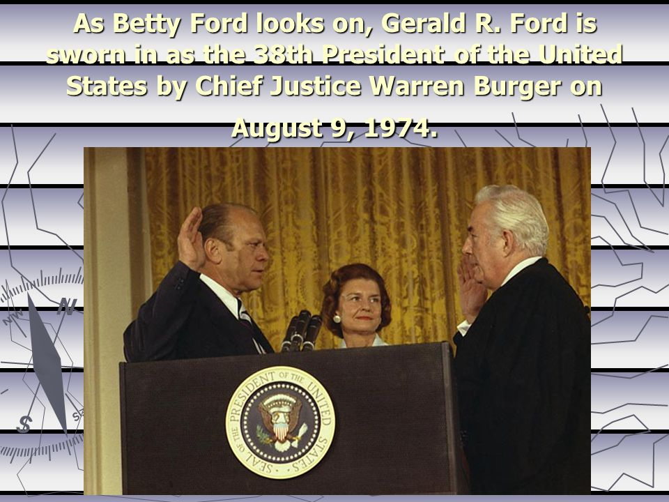 As Betty Ford looks on, Gerald R