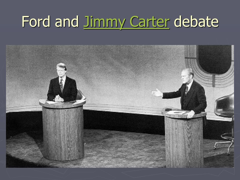 Ford and Jimmy Carter debate
