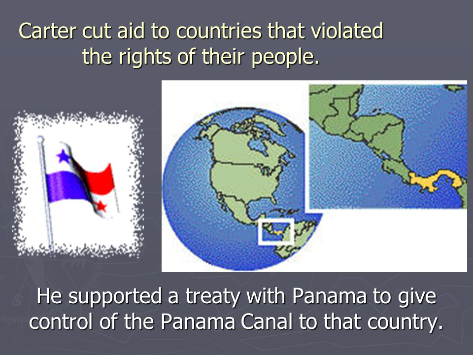 Carter cut aid to countries that violated the rights of their people.