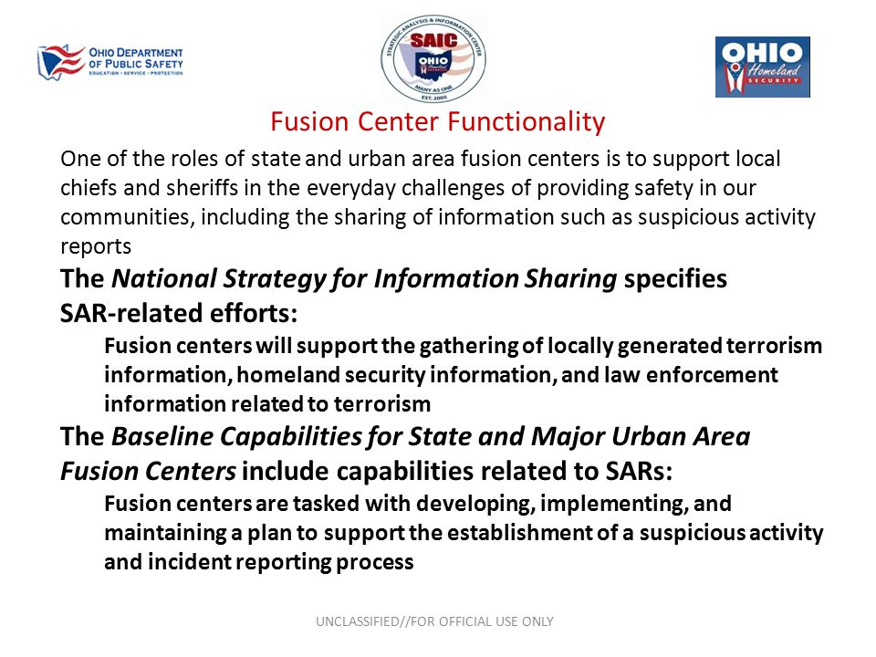 Fusion Center Functionality