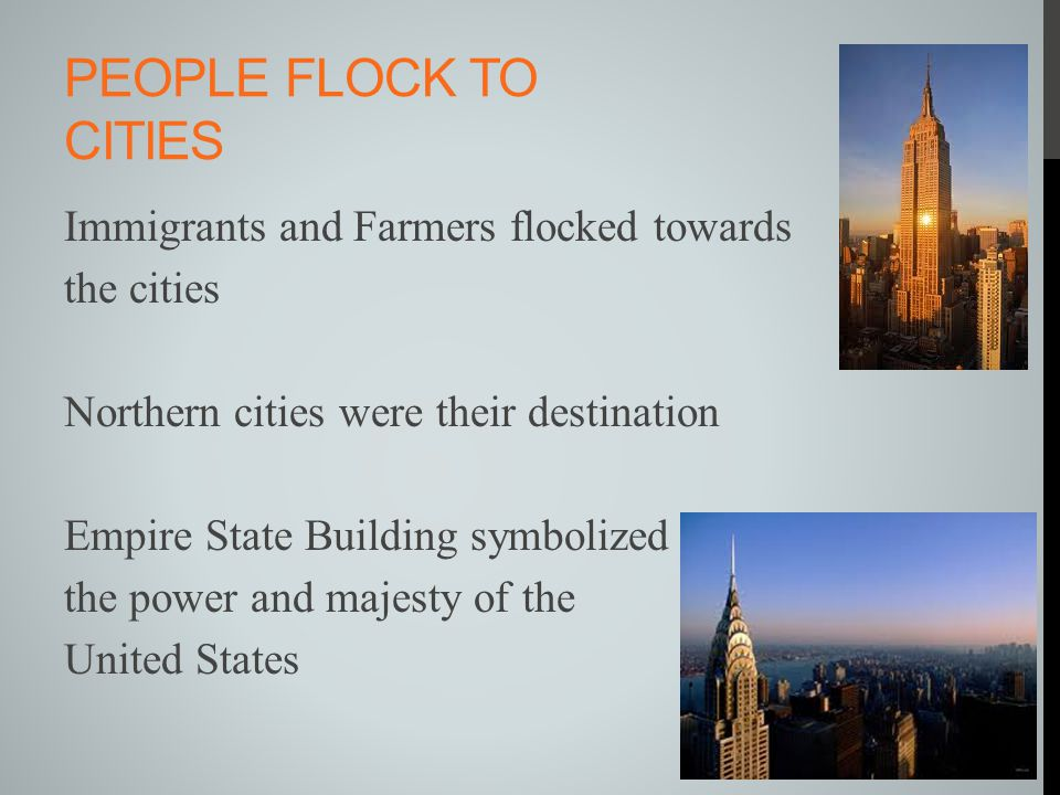 People flock to cities