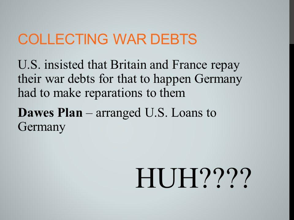 Collecting war debts