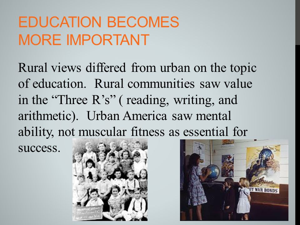 Education becomes more important