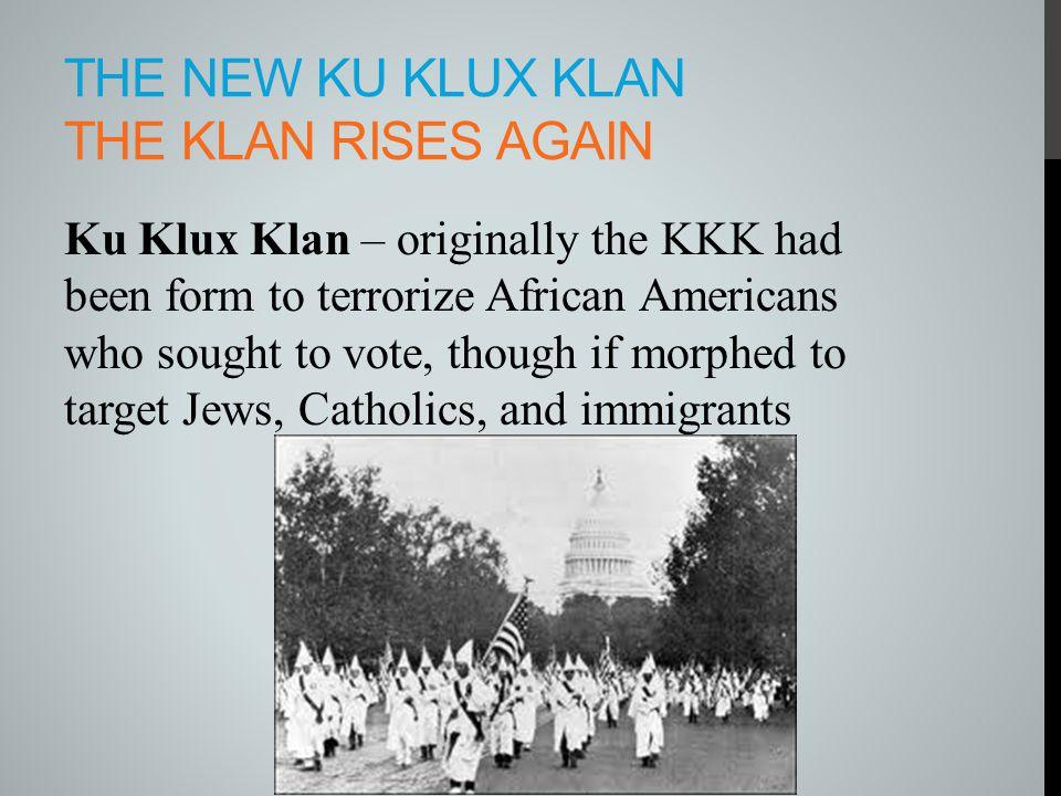 The New Ku Klux Klan The Klan Rises Again