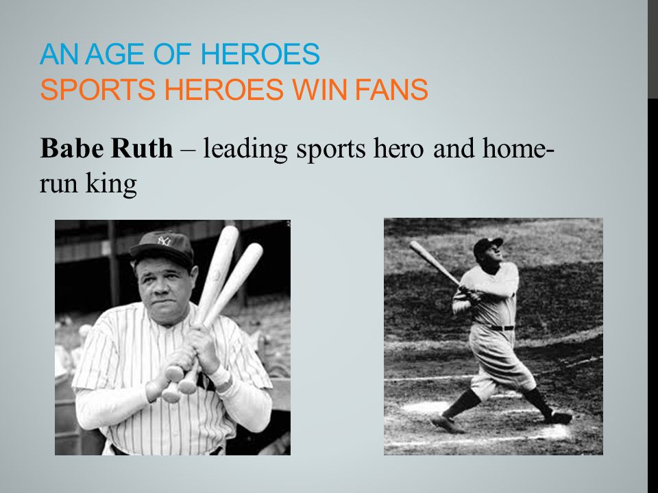 An age of heroes sports heroes win fans