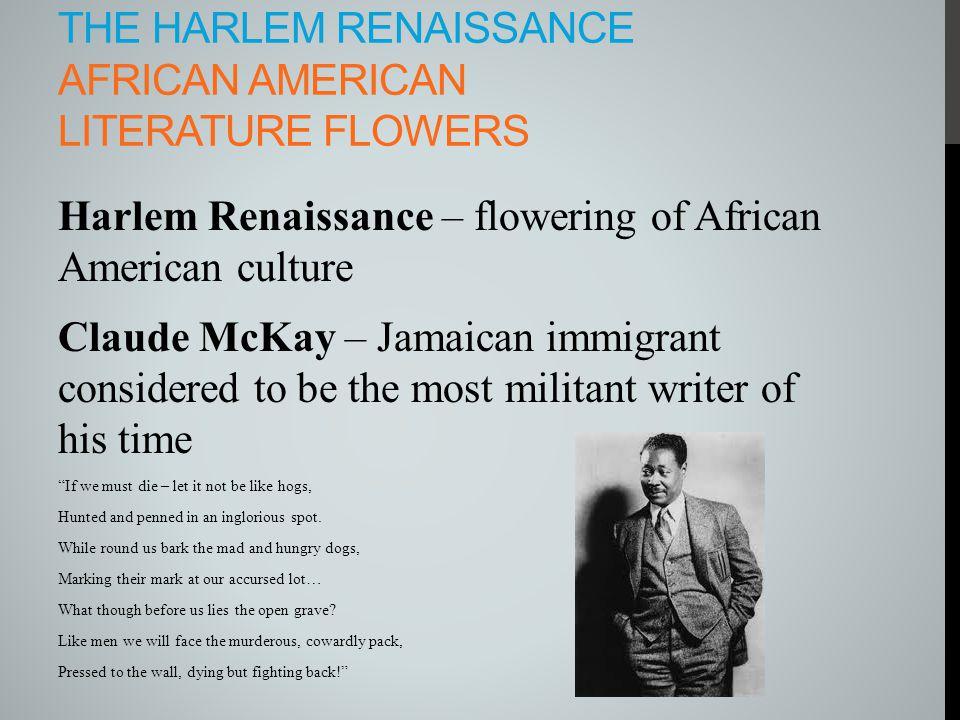 The Harlem Renaissance African American literature flowers