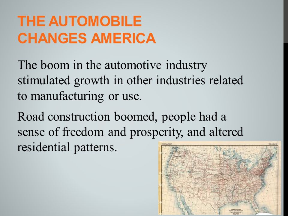 The automobile changes America