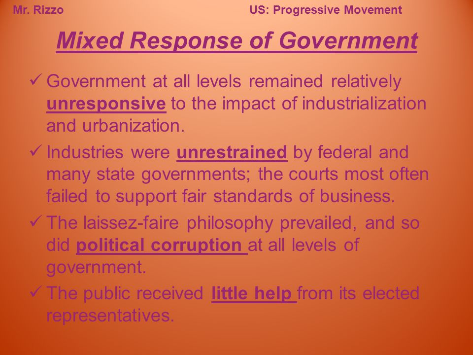 Mixed Response of Government