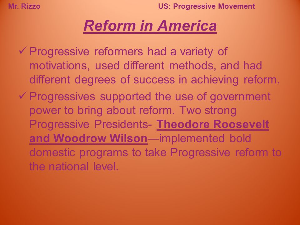 Reform in America