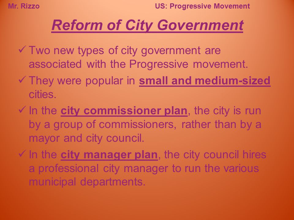 Reform of City Government