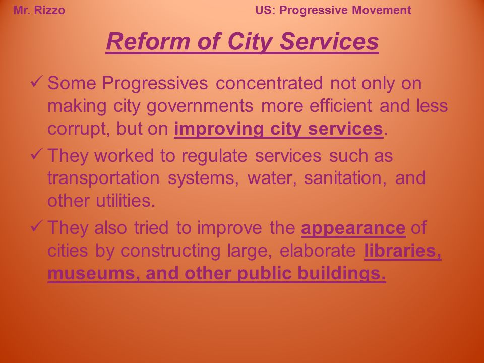 Reform of City Services