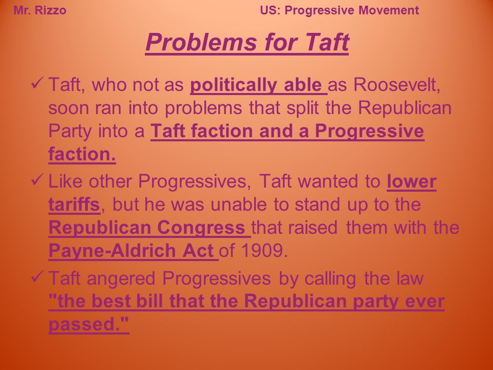 Problems for Taft