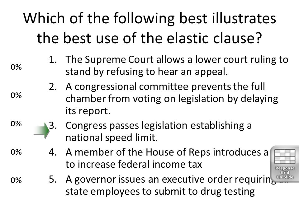 essay on affects of elastic clause on federalism