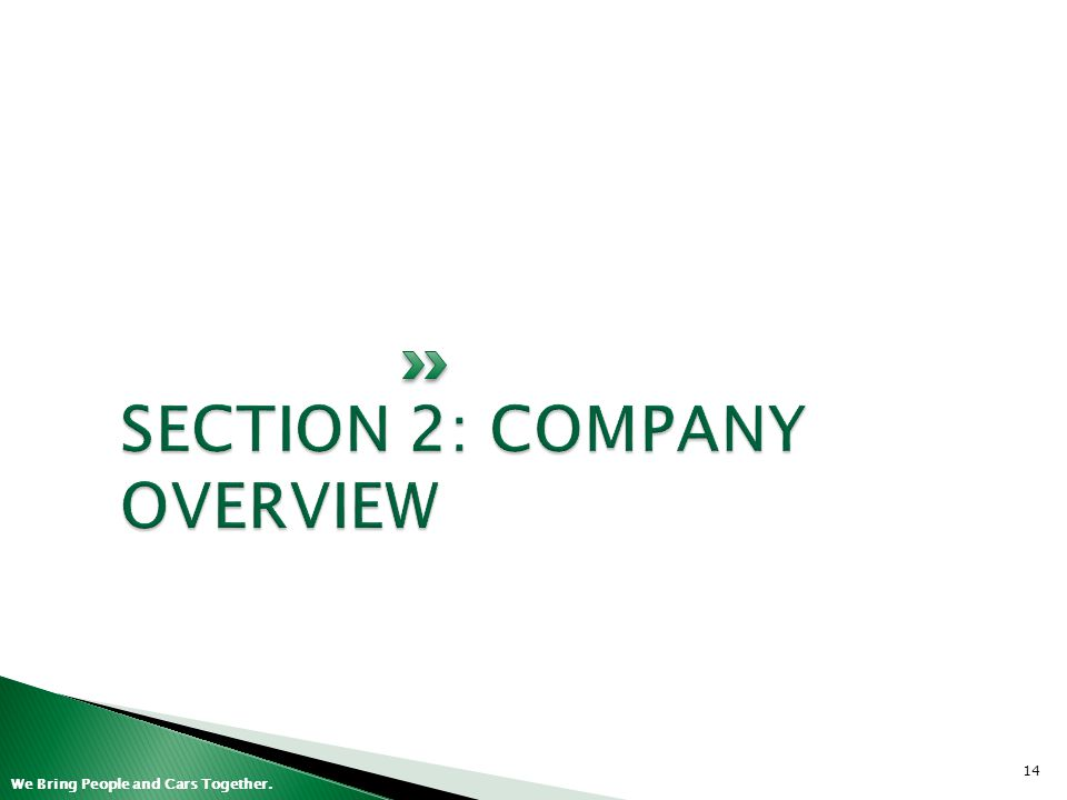SECTION 2: COMPANY OVERVIEW