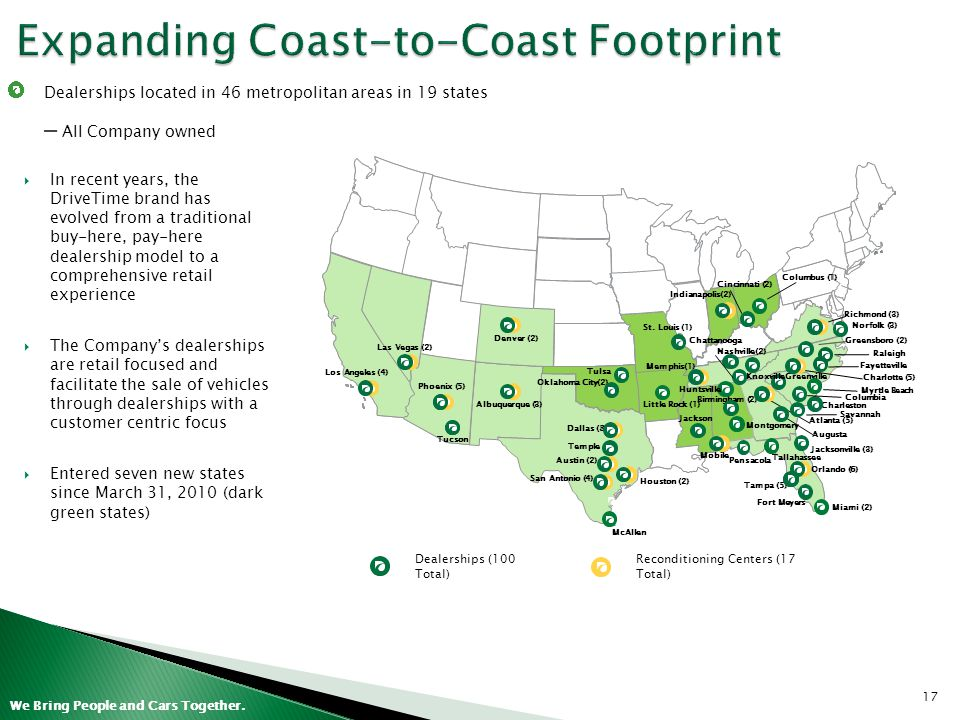 Expanding Coast-to-Coast Footprint
