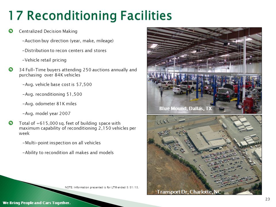 17 Reconditioning Facilities
