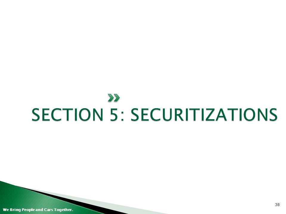 SECTION 5: SECURITIZATIONS