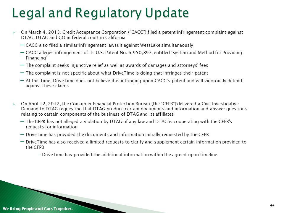 Legal and Regulatory Update