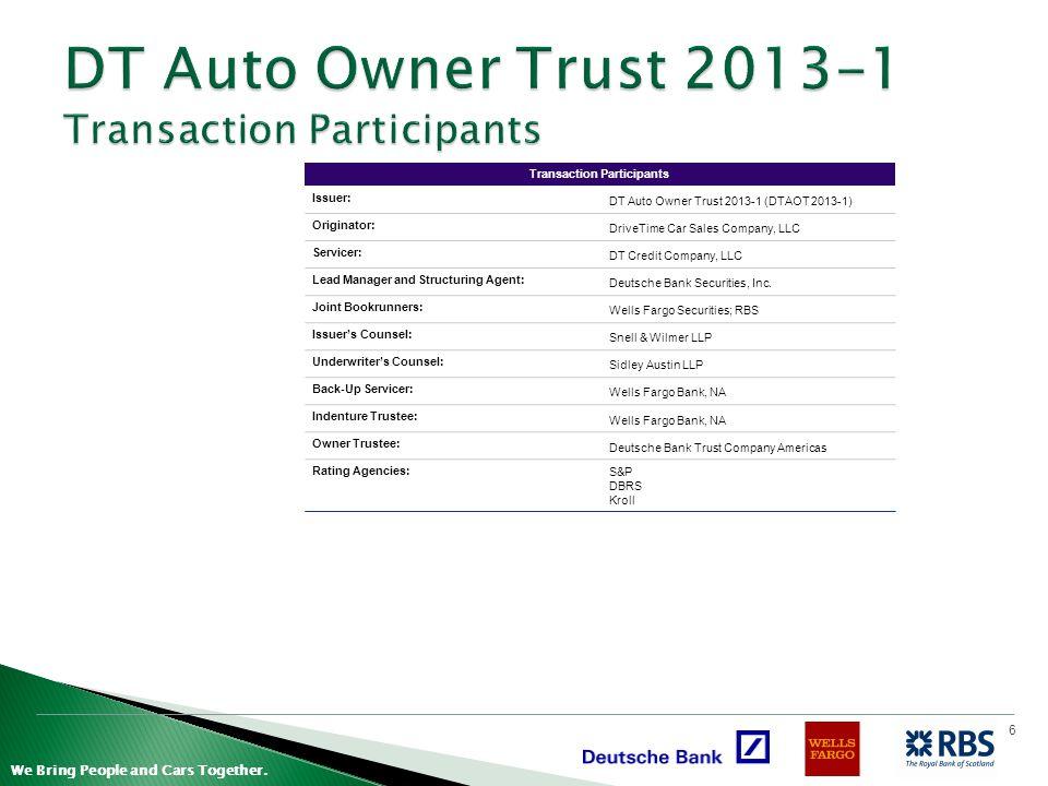 DT Auto Owner Trust 2013-1 Transaction Participants