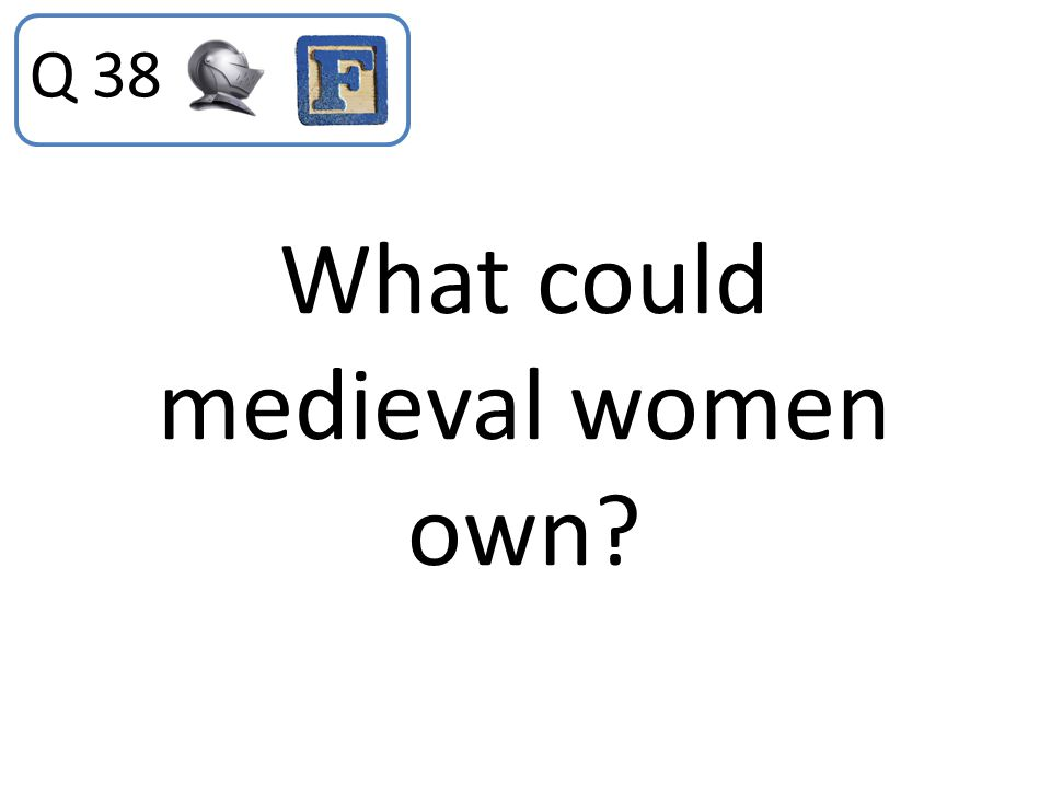 What could medieval women own