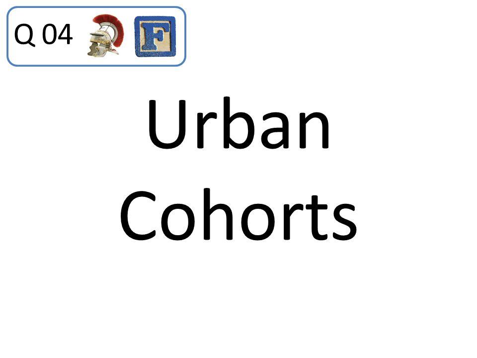 Q 04 Urban Cohorts