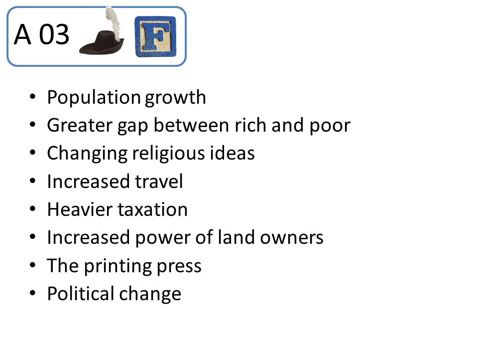 A 03 Population growth Greater gap between rich and poor
