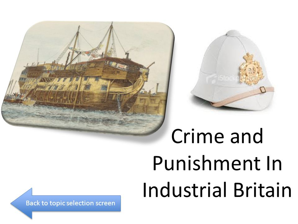 Crime and Punishment In Industrial Britain