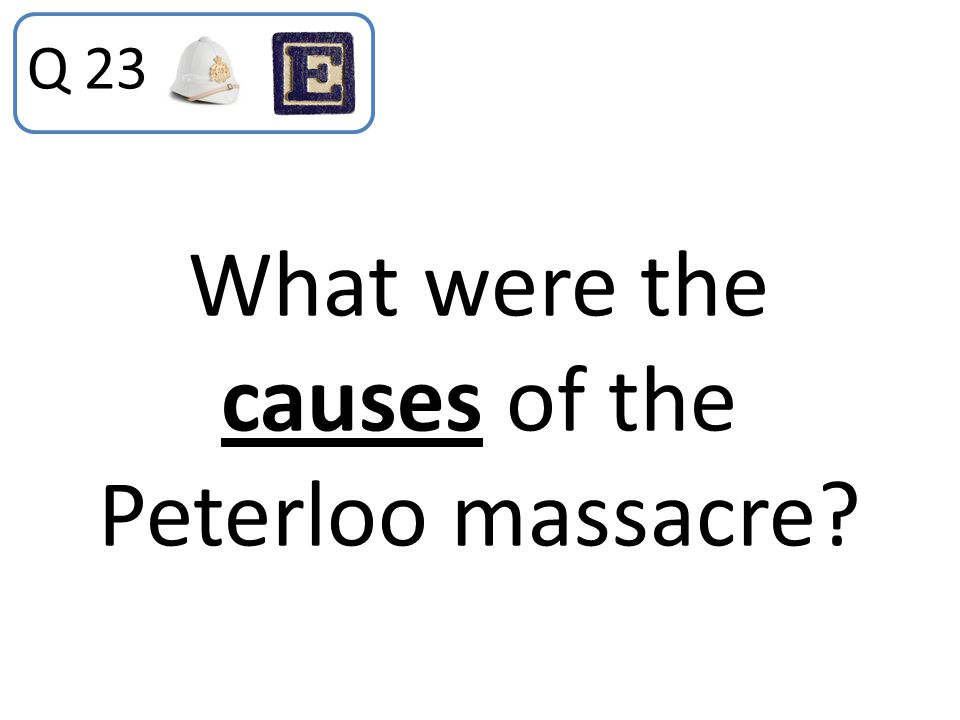 What were the causes of the Peterloo massacre