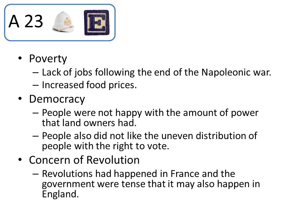 A 23 Poverty Democracy Concern of Revolution