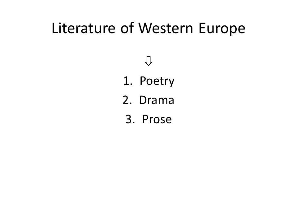 Literature of Western Europe
