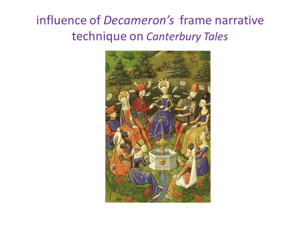 influence of Decameron's frame narrative technique on Canterbury Tales