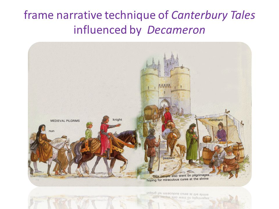 frame narrative technique of Canterbury Tales influenced by Decameron