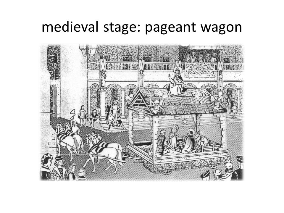 medieval stage: pageant wagon