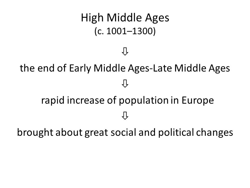 High Middle Ages (c. 1001–1300)