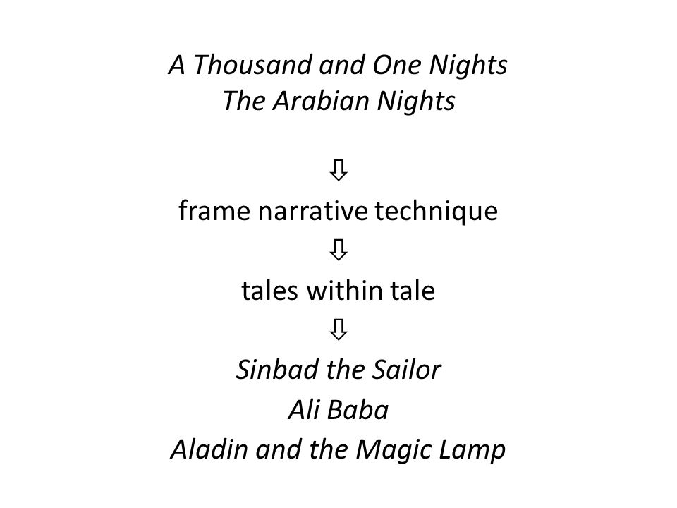A Thousand and One Nights The Arabian Nights
