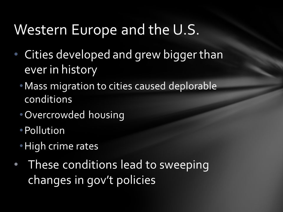 Western Europe and the U.S.