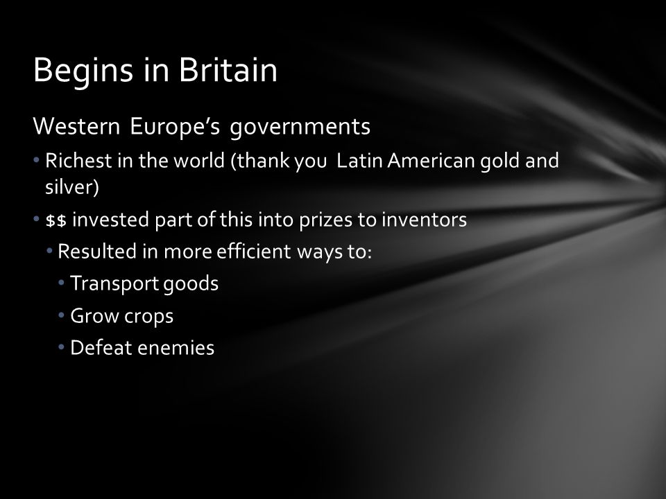 Begins in Britain Western Europe's governments