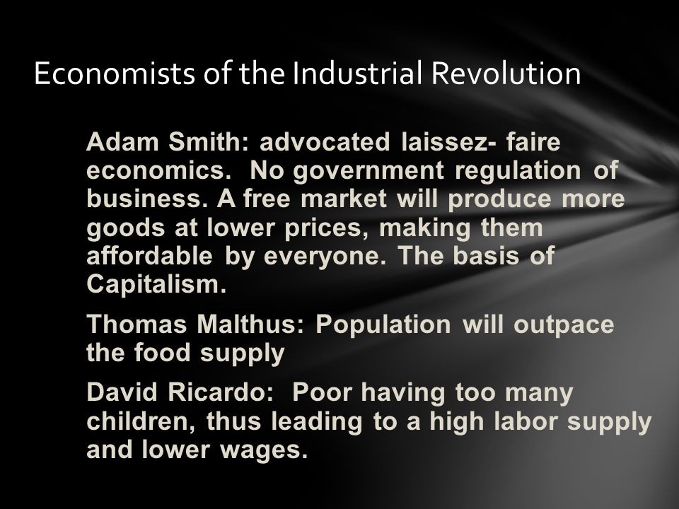 Economists of the Industrial Revolution