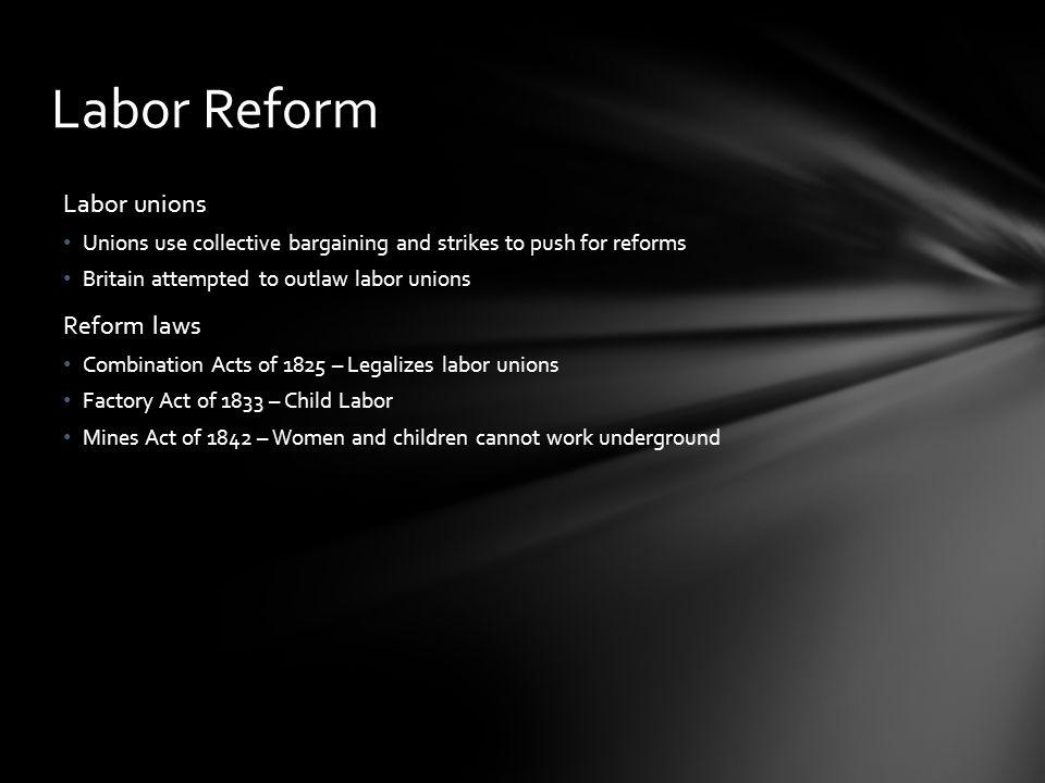 Labor Reform Labor unions Reform laws
